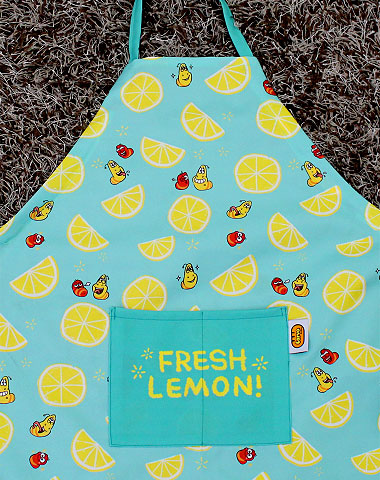 Larva apron lemon