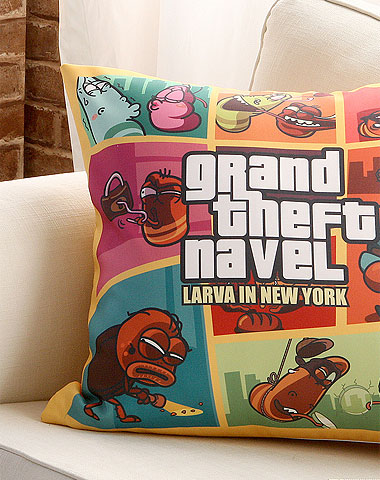 Larva cushion New York