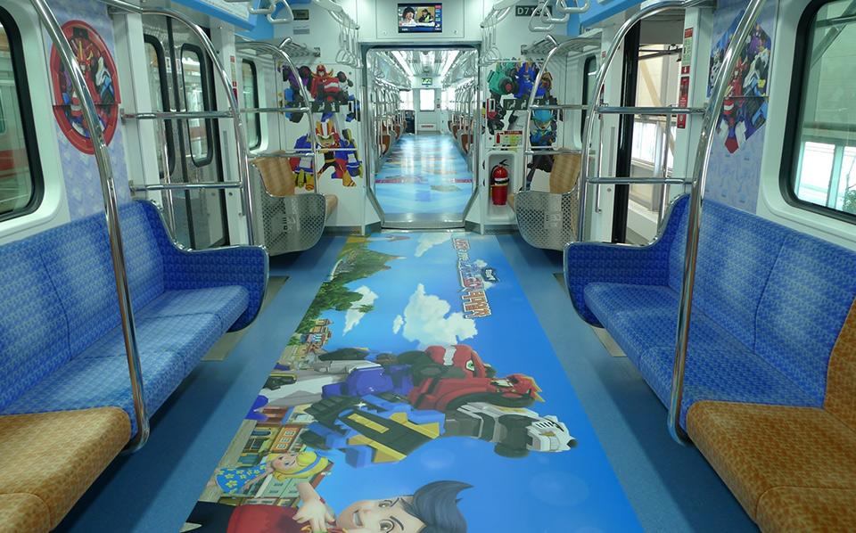 [사진 설명] 투바앤, 다이노코어 캐릭터 테마열차