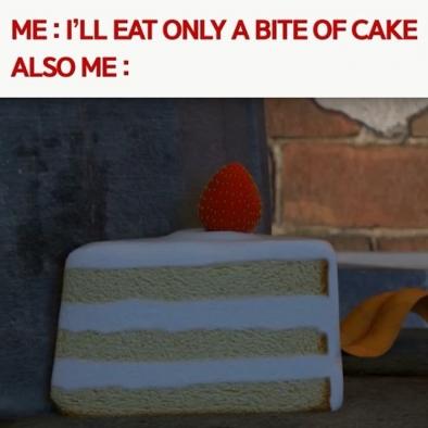 "Suuuuuuure, you are 😏 – ""한입만~"" 했으나 결국 몽땅 순삭 – #cake #abite #yummy #yellow #anime #comic #comics #manga #animes #larva #TUBAn #한입만 #먹스타그램 #케이크 #옐로우 #애니메이션 #짤 #캐릭터 #만화 #라바 #투바앤"