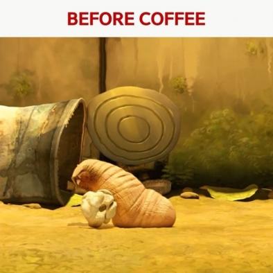 Coffee, you fulfill me!☕ – 오늘 아침 커피 마신 사람 손!🙋 – #coffee #morning #energy #anime #comic #comics #manga #animes #larva #TUBAn #모닝커피 #커피 #애니메이션 #짤 #캐릭터 #만화 #라바 #투바앤