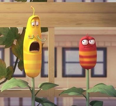 Larva and the beanstalks!🌱 – 콩 심은 데 콩 나고 팥 심은 데 팥 난다🤣 – #EatBeansDay #beans #healthy #greenfood #anime #comic #comics #larva #kculture #TUBAn #콩나무 #콩 #식물 #애니메이션 #애니 #만화 #라바 #투바앤