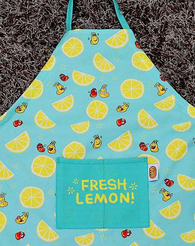 Larva apron lemon