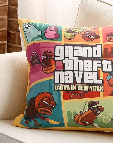Larva cushion New York